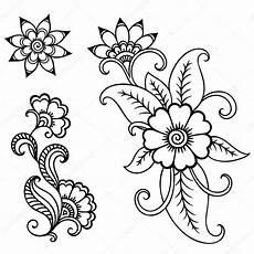 Henna Flower Template Mehndi Stock Vector