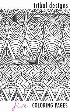 tribal designs 5 coloring pages alisa burke