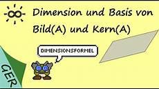 dimension und basis bild und kern einer matrix