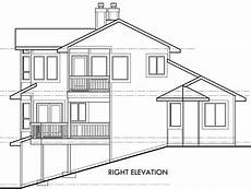 side view house plans view home sloping lot multi level house plan 3d home