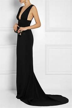Stella Mccartney Stretch Cady Gown In Black Lyst