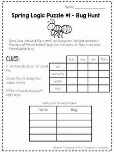 logic puzzles critical thinking activities by mrs thompson s treasures