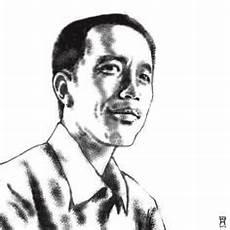 Gambar Kartun Hitam Putih Jokowi Untuk Mewarnai Mewarnai