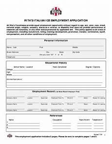 ritas job application fill online printable fillable