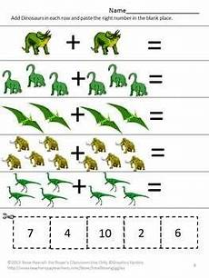 dinosaurs counting worksheets 15283 dinosaur math worksheets counting objects kindergarten addition and subtraction игры и другие