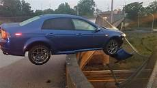 this acura tl type s was a sneeze away from plunging off a bridge the drive