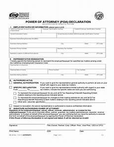 power of attorney declaration california edd free download