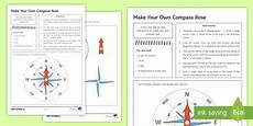 teaching directions year 1 11789 make your own compass worksheet made twinkl