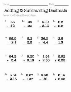 math worksheet addition and subtraction of decimals 7620 decimal addition subtraction ws by missumukoro tpt