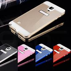 Bumper Mirror Samsung Note 4 luxury metal aluminum bumper frame pc back cover for