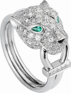 bague jaguar cartier crn4244700 panth 232 re de cartier ring white gold