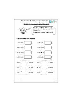 division maths worksheets for year 5 age 9 10