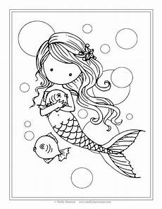 mermaid and fish with images mermaid coloring