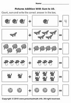 math addition worksheets kindergarten free 9327 count sum and write the correct number in the box g 246 r 252 nt 252 ler ile matematik okul 246 ncesi