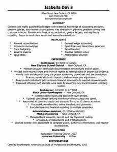 best bookkeeper resume exle livecareer