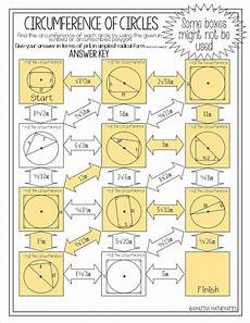 geometry worksheets circles high school 653 i this high school geometry circumference of circles maze my geometry students would