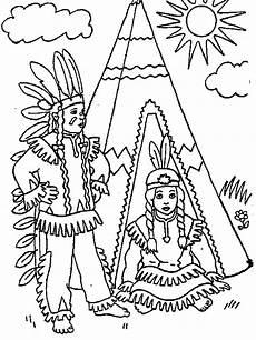 ausmalbilder indianer ausmalbilder