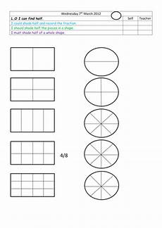 shapes in half worksheets 1140 find half of given shapes by landoflearning teaching resources tes