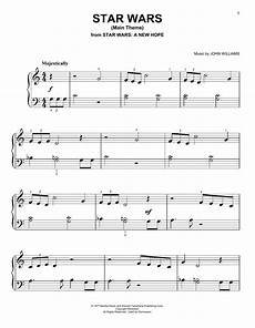 star wars main theme sheet music williams very easy piano