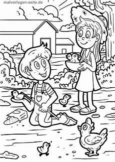 Malvorlage Bauernhof Kinder Malvorlage Bauernhof Und Kinder Kostenlose Ausmalbilder