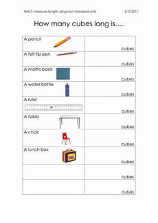 measurement worksheets non standard units 1535 measuring length using non standard units by jacq23 teaching resources tes