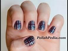 nails muster plaid nails tutorial easy plaid nail design