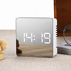 Alarm Clock Mirror Display Digital Temperature by Multifunctional Led Mirror Clocks Digital Display Time
