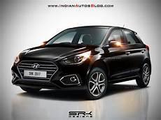 Hyundai I20 Schwarz - 2018 hyundai i20 facelift rendered in black colour