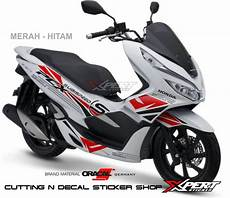 Variasi Motor Pcx by Jual Stiker Pcx Putih Cutting Sticker Honda Pcx 2018 Di