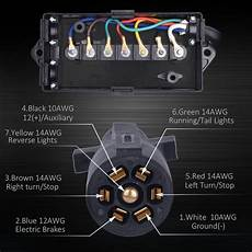 trailer light wiring 7 way with junction boxes