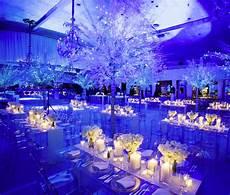 amazing setup at this blue uplighting wedding