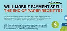 will mobile payment spell the end of paper receipts infographic panda paper roll