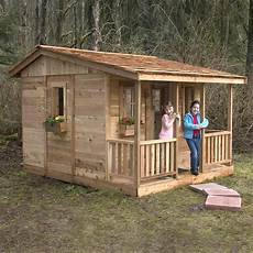Outdoor Living Today Cozy Cabin Wood Playhouse Kit At