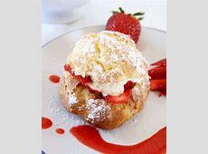 strawberry pastries with lemon cream_image