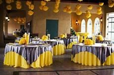 wedding colors yellow and grey wedding reception