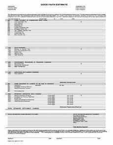 good faith estimate fill out and sign printable pdf