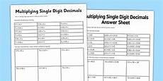 decimals worksheet year 6 7359 year 6 multiply single digit decimals worksheet