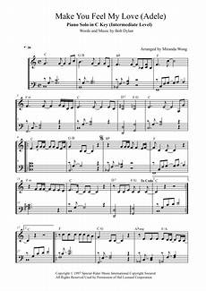 download make you feel my love piano solo in c key with chords sheet music by adele sheet
