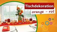 Asiatische Deko Ideen - tischdekoration orange rot tischdeko trendmarkt24