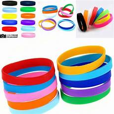 Color Band Silicone by 2x Assorted Solid Colors Silicone Wristbands Wrist Bands
