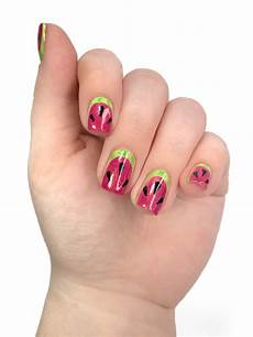 easy watermelon nail art 25 sweetpeas