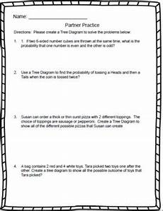 probability tree diagram worksheet grade 4 6045 tree diagrams 7th grade probability by lessons for middle school