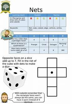 nets of cubes and cuboids entry level worksheet by hillcrestshifnal teaching resources