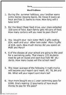 math word problems worksheets doc 11011 pin on 4th grade