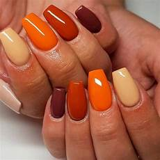 easy nails with fall colors easynailart simple ideas