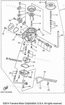 1999 600 grizzly wiring diagram yamaha atv 1999 oem parts diagram for carburetor partzilla