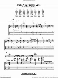 adele make you feel my love sheet music for guitar tablature