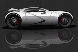 Fully Rendered Car With Line Drawing  TrashedGraphics