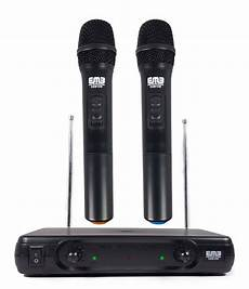 cordless microphone system 2 professional wireless microphone dual vhf wireless handheld microphone system ebay
