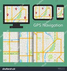 navigation mobile app gps navigation mobile app map stock vector